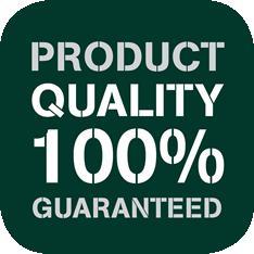 Product Quality 100% Guaranteed